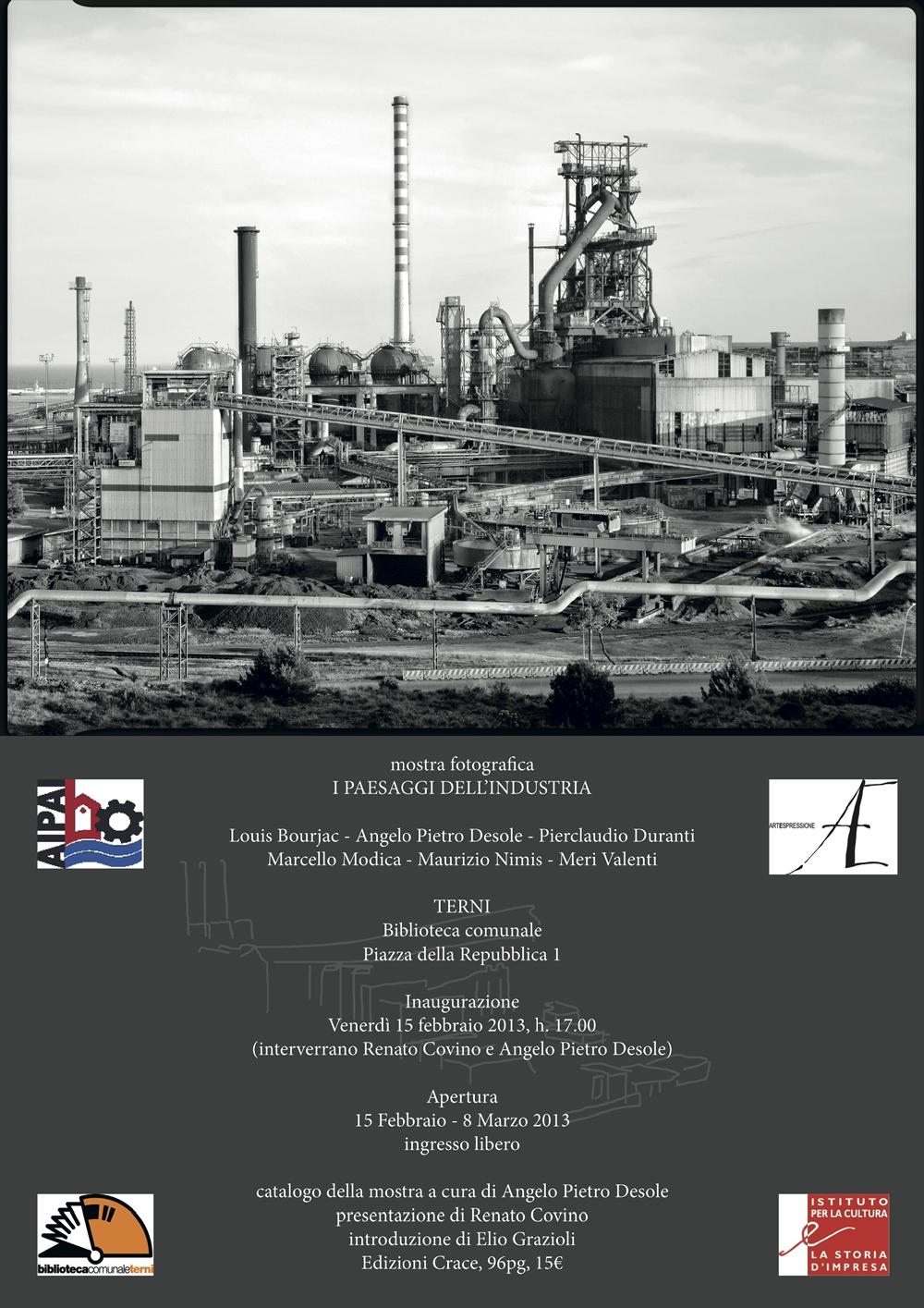 Paesaggi industria - mostra fotografica - Terni 14feb-8mar2013