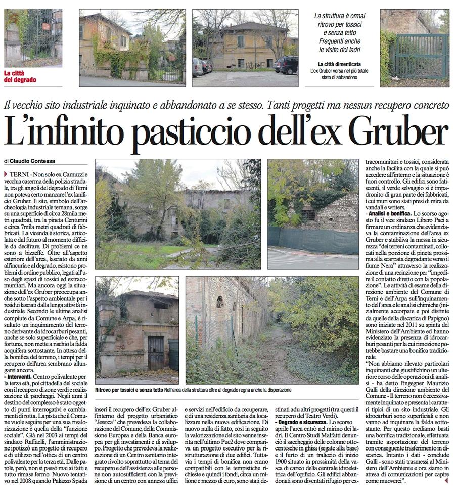 Articolo da Il Corriere dell'Umbria del 03/01/2014