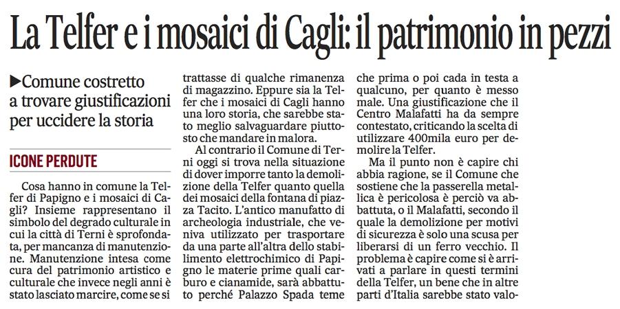 Il Messaggero 15/01/2014