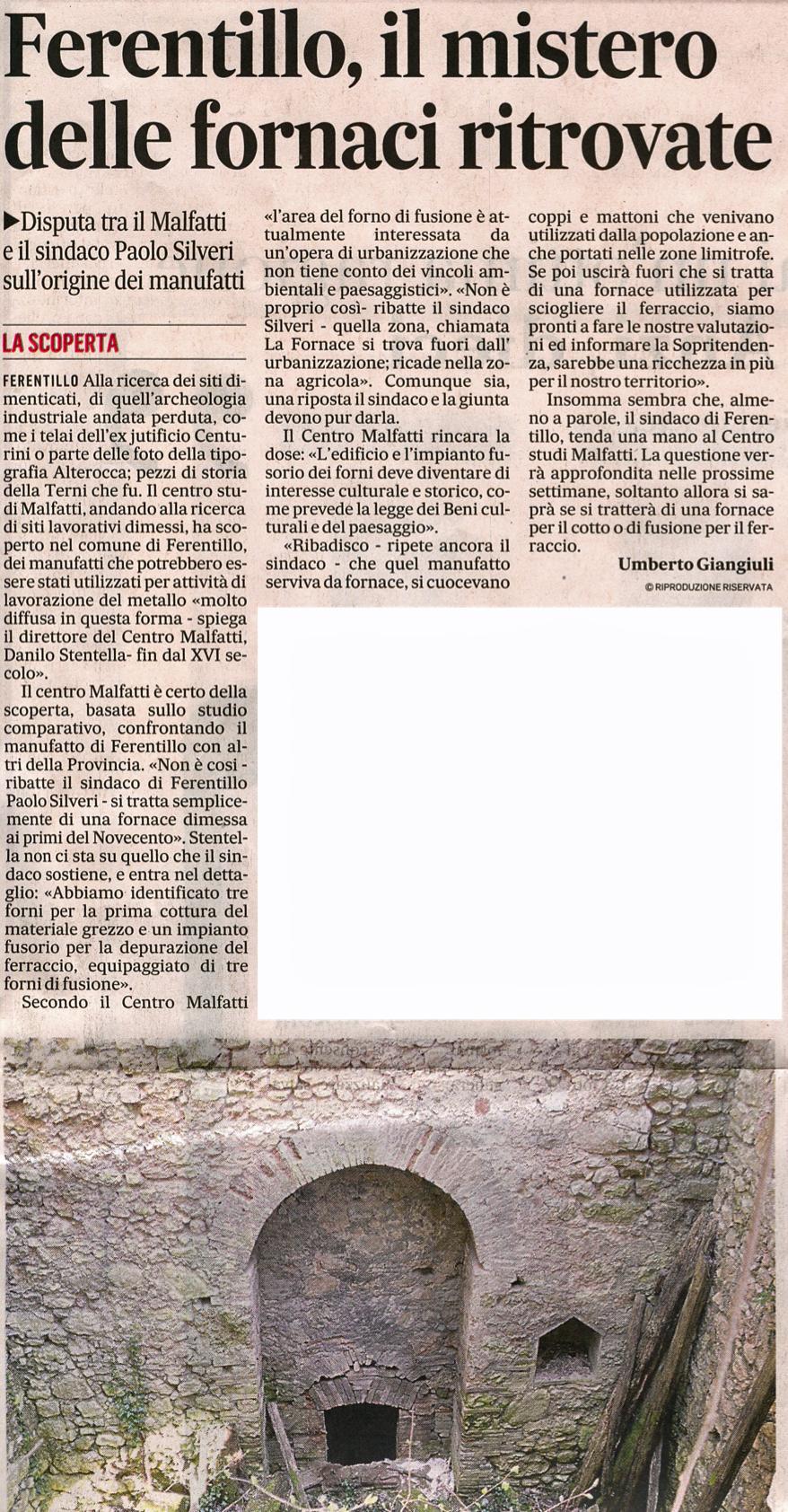 Articolo tratto da Il Messaggero del 03/01/2014