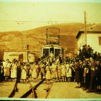 Arrivo del primo convoglio a Norcia, 1926.