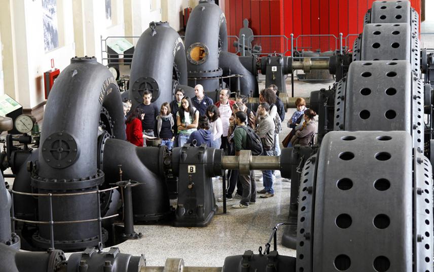 Sala macchine della centrale Antonio Pitter