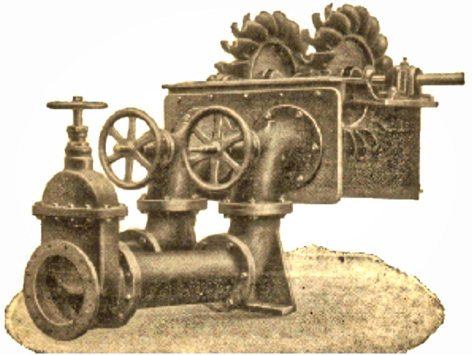 Disegno della turbina del pastificio