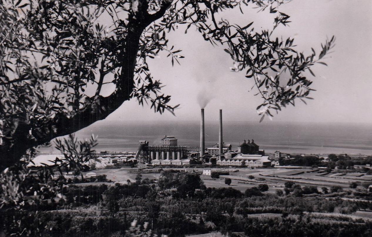 Rosignano Solvay - Stabilimenti Solvay - Veduta panoramica