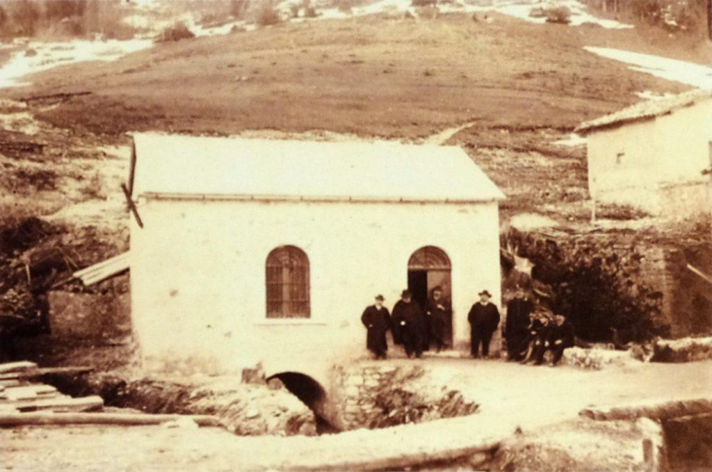 La centrale durante i primi anni di attività (Foto esposta all'interno del Museo dell'Acqua)