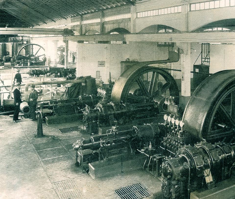 Nera Montoro, compressori da 750 atm per la sintesi dell'ammoniaca, 1922